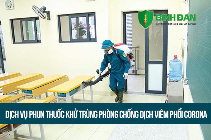 Dịch vụ phun thuốc khử trùng phòng chống dịch viêm phổi Corona tại Hà Nội