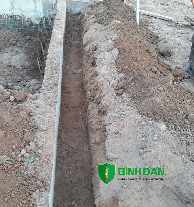 Hình ảnh thi công phòng mối cho công trình xây dựng mới 1